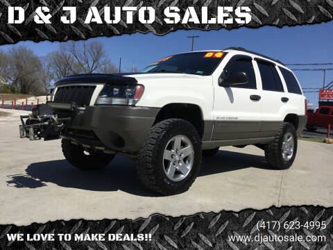 2004 Jeep Grand Cherokee for sale at D & J AUTO SALES in Joplin MO