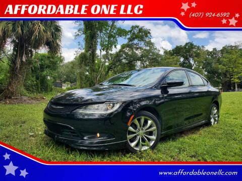 2015 Chrysler 200 for sale at AFFORDABLE ONE LLC in Orlando FL