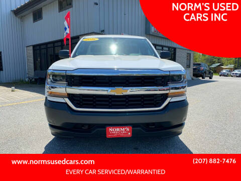 2016 Chevrolet Silverado 1500 for sale at NORM'S USED CARS INC in Wiscasset ME