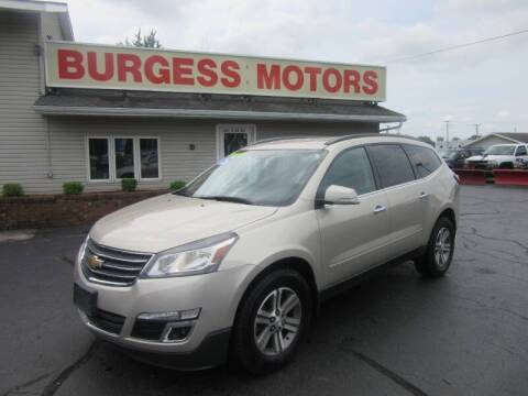 2015 Chevrolet Traverse for sale at Burgess Motors Inc in Michigan City IN