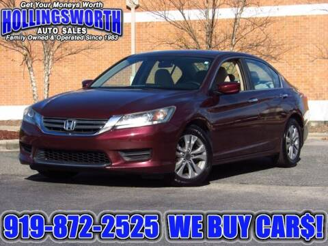 2013 Honda Accord for sale at Hollingsworth Auto Sales in Raleigh NC