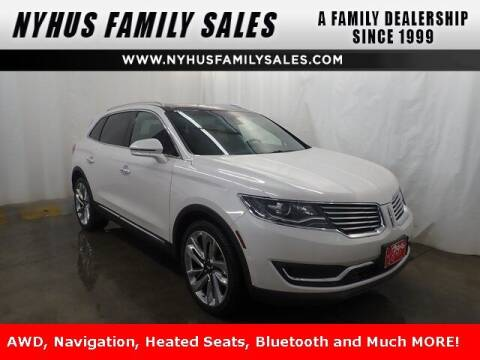 2018 Lincoln MKX for sale at Nyhus Family Sales in Perham MN