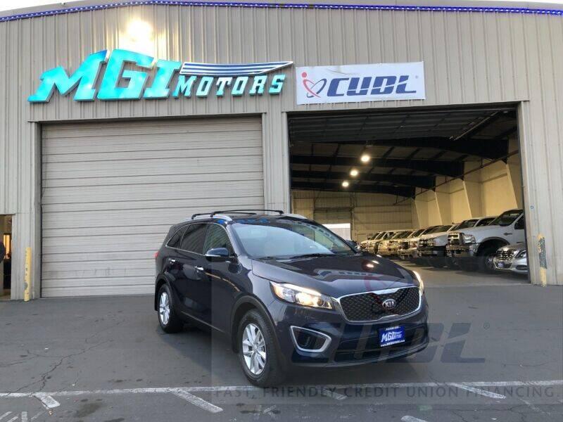 2017 Kia Sorento for sale at MGI Motors in Sacramento CA