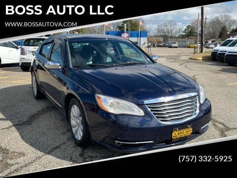 2014 Chrysler 200 for sale at BOSS AUTO LLC in Norfolk VA