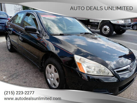2007 Honda Accord for sale at AUTO DEALS UNLIMITED in Philadelphia PA