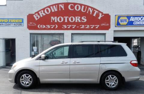 2007 Honda Odyssey for sale at Brown County Motors in Russellville OH