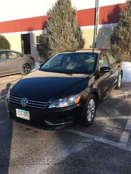 2013 Volkswagen Passat for sale at Specialty Auto Wholesalers Inc in Eden Prairie MN