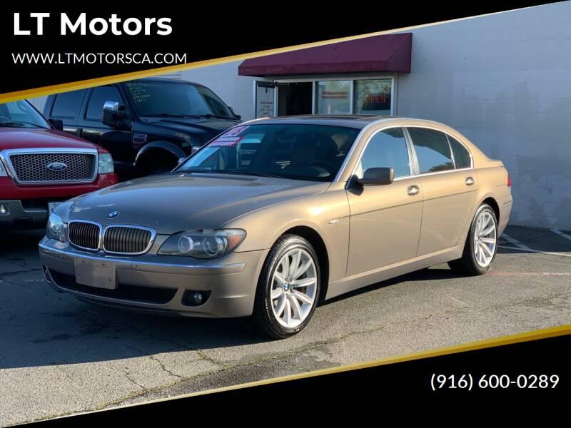 2008 BMW 7 Series for sale at LT Motors in Rancho Cordova CA