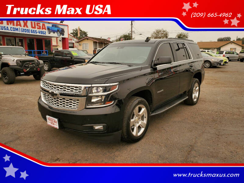 2015 Chevrolet Tahoe for sale at Trucks Max USA in Manteca CA