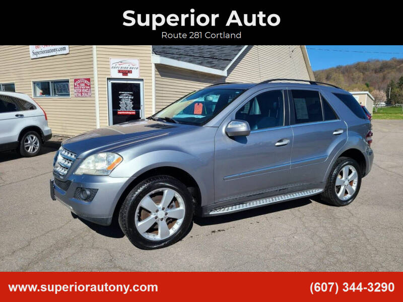 2010 Mercedes-Benz M-Class for sale at Superior Auto in Cortland NY