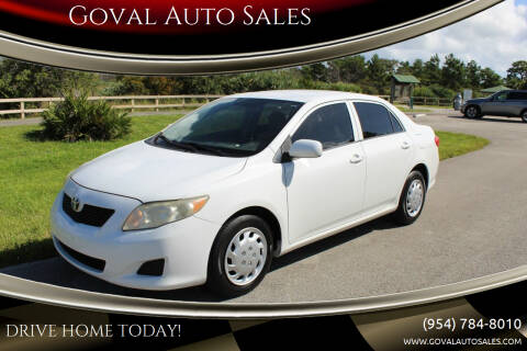 2009 Toyota Corolla for sale at Goval Auto Sales in Pompano Beach FL