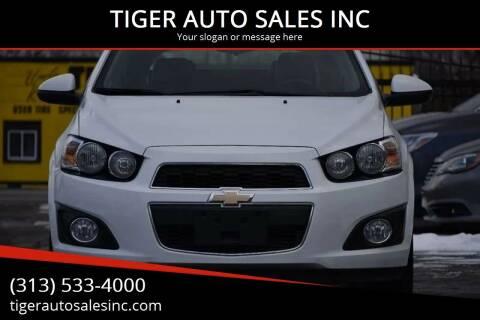 2014 Chevrolet Sonic for sale at TIGER AUTO SALES INC in Redford MI
