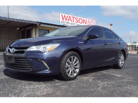 2016 Toyota Camry Hybrid for sale at Watson Auto Group in Fort Worth TX