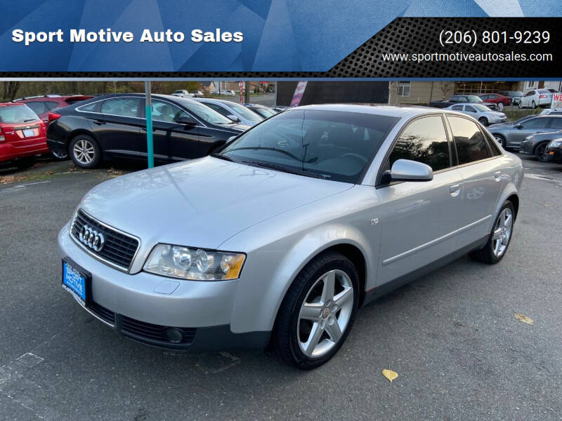 2003 Audi A4 for sale at Sport Motive Auto Sales in Seattle WA