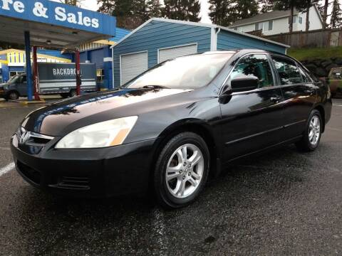 2007 Honda Accord for sale at Shoreline Family Auto Care And Sales in Shoreline WA