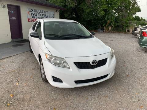2010 Toyota Corolla for sale at Excellent Autos of Orlando in Orlando FL