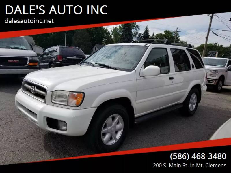 2001 Nissan Pathfinder for sale at DALE'S AUTO INC in Mount Clemens MI