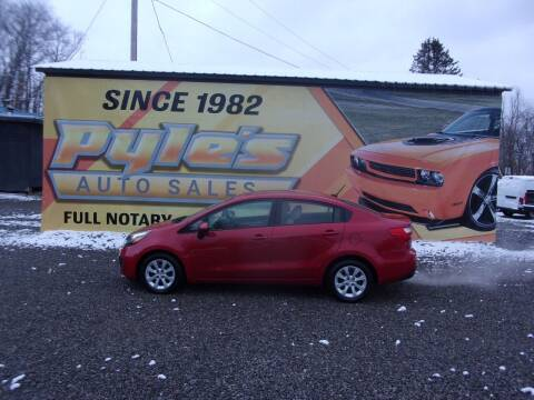 2013 Kia Rio for sale at Pyles Auto Sales in Kittanning PA