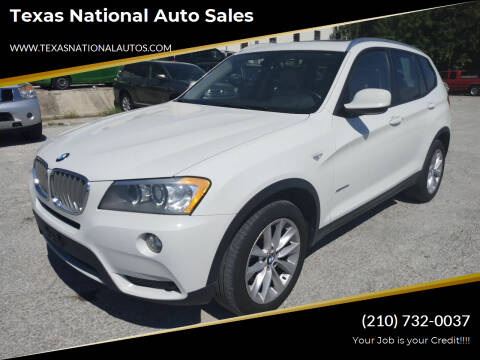 2014 BMW X3 for sale at Texas National Auto Sales in San Antonio TX