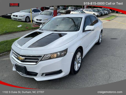 2015 Chevrolet Impala for sale at CRAIGE MOTOR CO in Durham NC