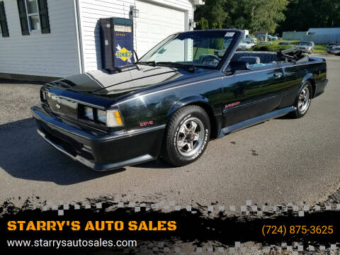 1986 Chevrolet Celebrity for sale at STARRY'S AUTO SALES in New Alexandria PA