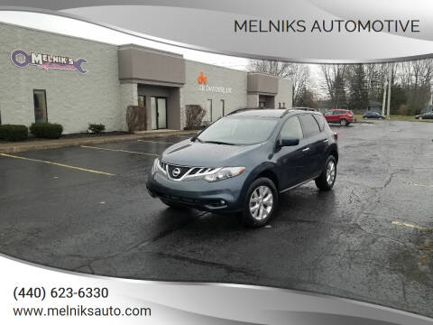 2014 Nissan Murano for sale at Melniks Automotive in Berea OH