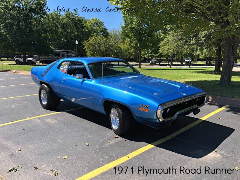 1971 Plymouth Roadrunner for sale at MIDWAY AUTO SALES & CLASSIC CARS INC in Fort Smith AR