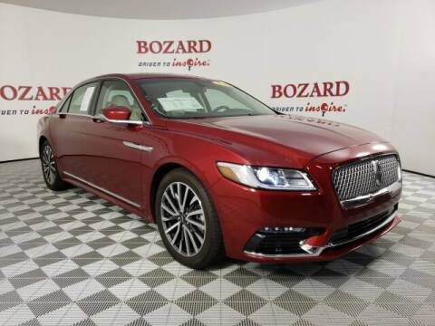 2018 Lincoln Continental for sale at BOZARD FORD in Saint Augustine FL