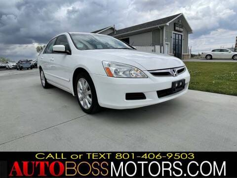 2007 Honda Accord for sale at Auto Boss in Woods Cross UT