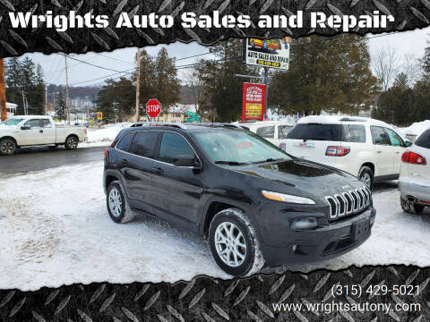 2014 Jeep Cherokee for sale at Wrights Auto Sales and Repair in Dolgeville NY