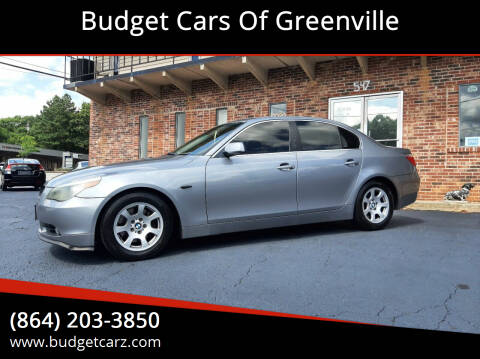 2004 BMW 5 Series for sale at Budget Cars Of Greenville in Greenville SC