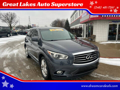 2013 Infiniti JX35 for sale at Great Lakes Auto Superstore in Pontiac MI