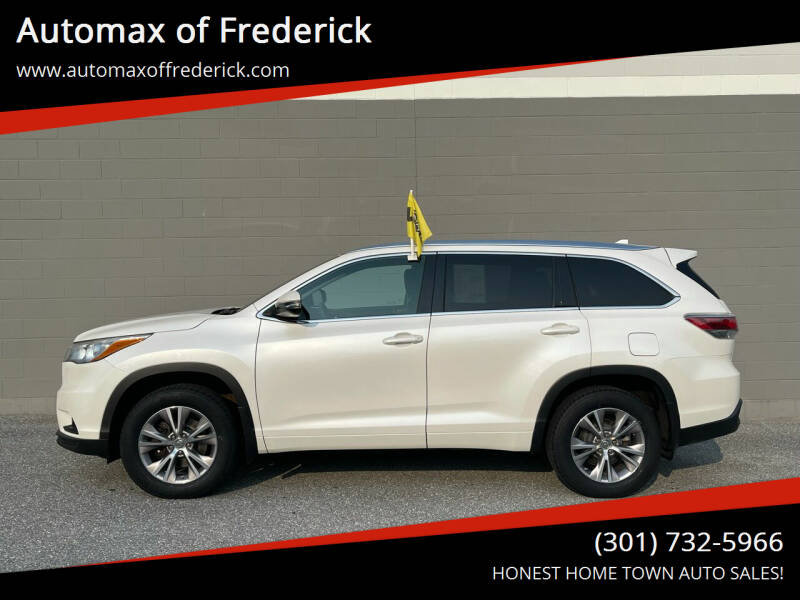 2015 Toyota Highlander for sale at Automax of Frederick in Frederick MD