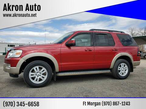 2009 Ford Explorer for sale at Akron Auto in Akron CO