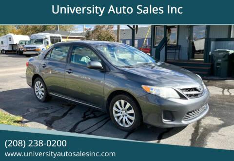 2012 Toyota Corolla for sale at University Auto Sales Inc in Pocatello ID