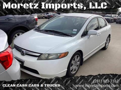 2008 Honda Civic for sale at Moretz Imports, LLC in Spring TX