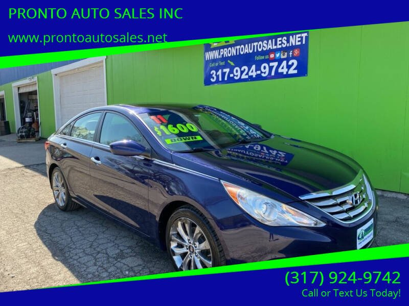 2011 Hyundai Sonata for sale at PRONTO AUTO SALES INC in Indianapolis IN