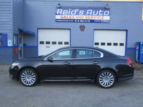 2013 Lincoln MKS for sale at Reid's Auto Sales & Service in Emporium PA