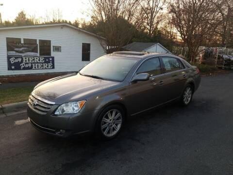 2007 Toyota Avalon for sale at TR MOTORS in Gastonia NC