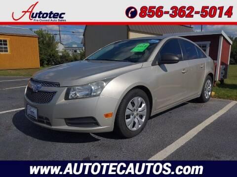 2013 Chevrolet Cruze for sale at Autotec Auto Sales in Vineland NJ