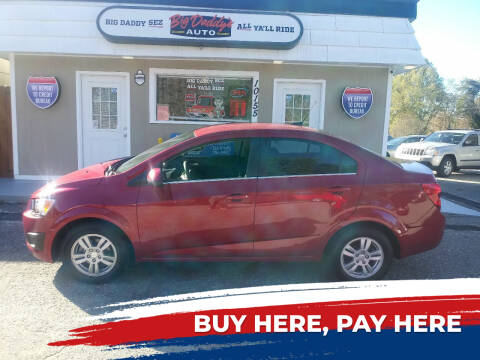 2014 Chevrolet Sonic for sale at BIG DADDY'S  A.L.D. in Winston Salem NC