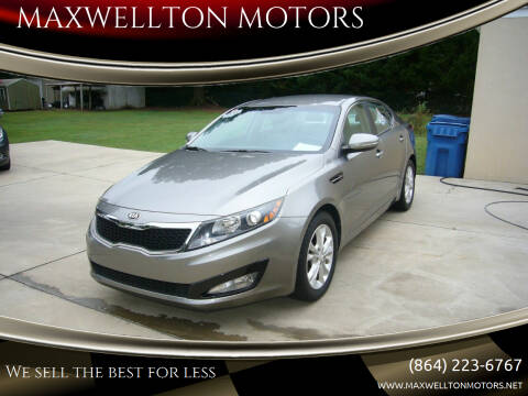 2013 Kia Optima for sale at MAXWELLTON MOTORS in Greenwood SC