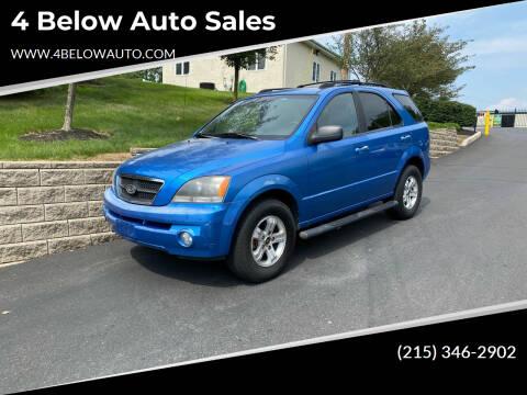 2005 Kia Sorento for sale at 4 Below Auto Sales in Willow Grove PA