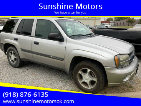 2004 Chevrolet TrailBlazer for sale at Sunshine Motors in Bartlesville OK