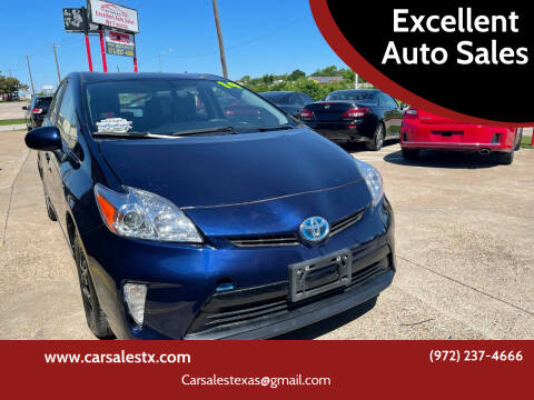 2014 Toyota Prius for sale at Excellent Auto Sales in Grand Prairie TX