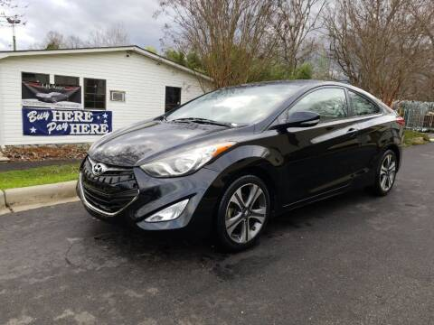 2013 Hyundai Elantra Coupe for sale at TR MOTORS in Gastonia NC