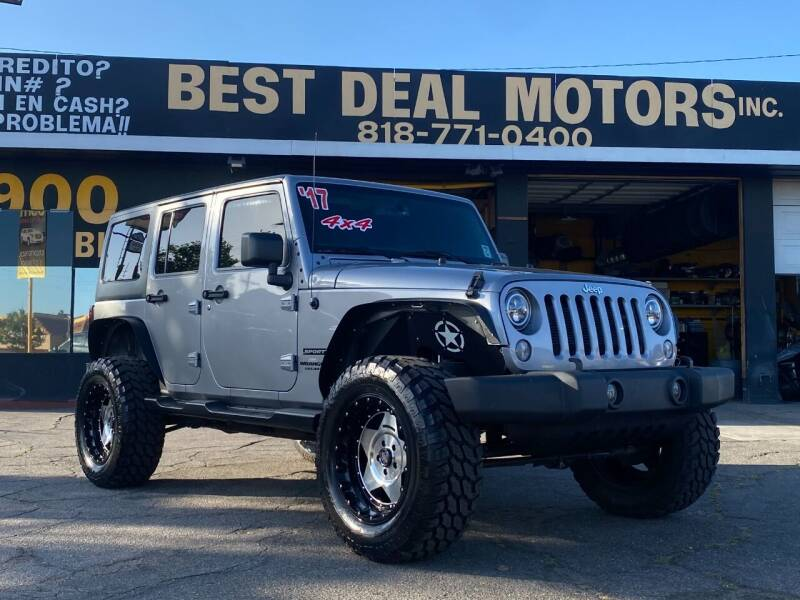 2017 Jeep Wrangler Unlimited for sale at BEST DEAL MOTORS  INC. CARS AND TRUCKS FOR SALE in Sun Valley CA