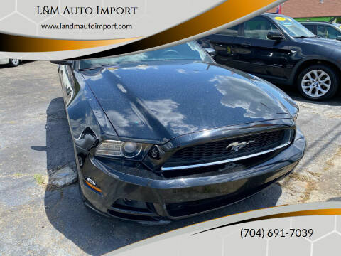 2013 Ford Mustang for sale at L&M Auto Import in Gastonia NC