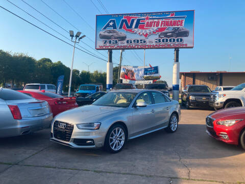 2014 Audi A4 for sale at ANF AUTO FINANCE in Houston TX