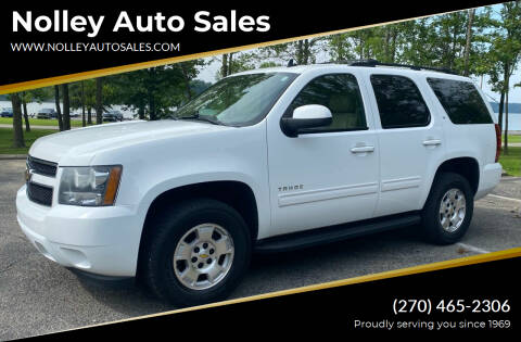 2010 Chevrolet Tahoe for sale at Nolley Auto Sales in Campbellsville KY